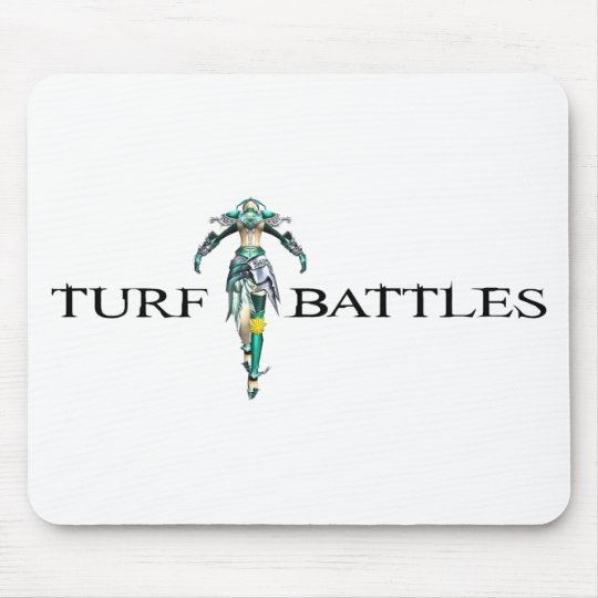 Turfbattles Logo Colour Light Mouse Mat