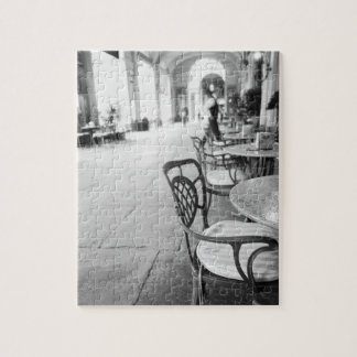 Turin Italy, Cafe and Archway Jigsaw Puzzle