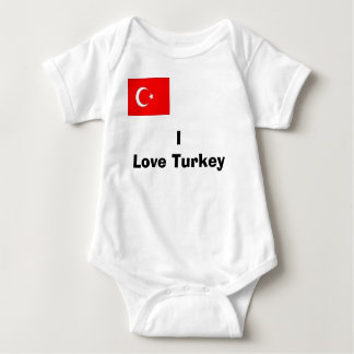 turk, I Love Turkey Baby Bodysuit