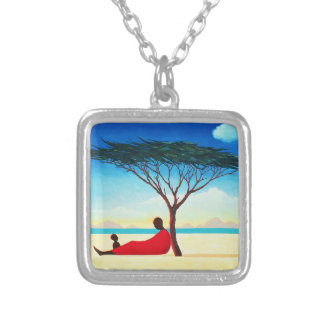 Turkana Afternoon 1994 Silver Plated Necklace