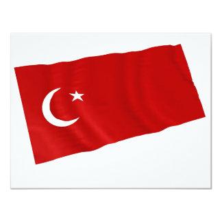 turkey 11 cm x 14 cm invitation card