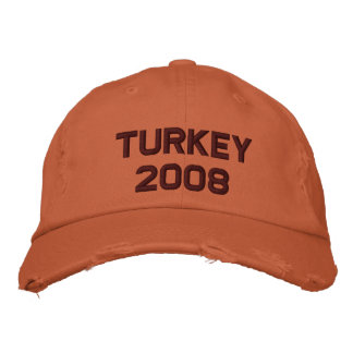 Turkey - 2008 embroidered baseball cap