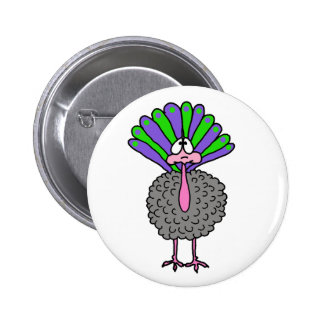 turkey 6 cm round badge
