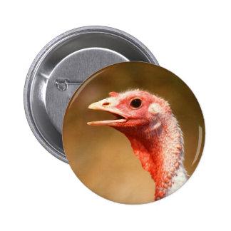 Turkey 6 Cm Round Badge