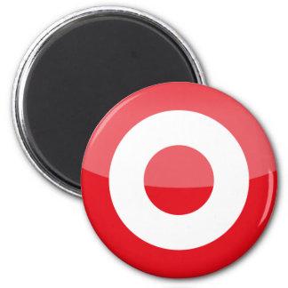 turkey 6 cm round magnet