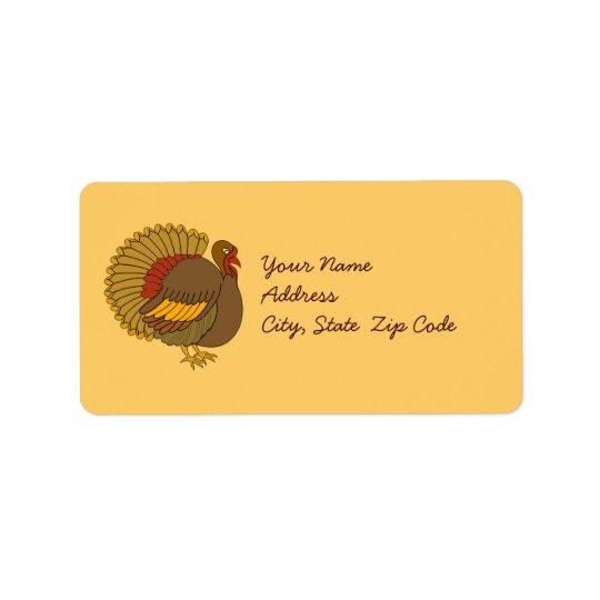 Turkey Address Label Stickers