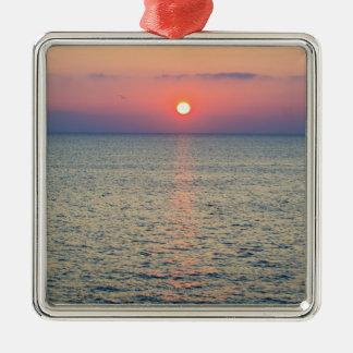 Turkey, Aegean Sea horizon at sunset 2 Christmas Ornament