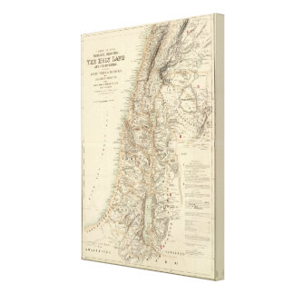 Turkey and Asia Biblical Regions Canvas Print