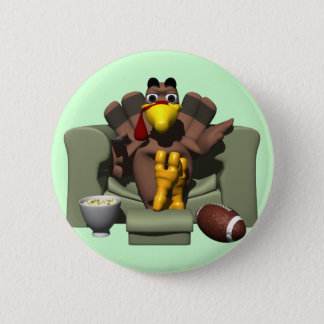 Turkey and Football 6 Cm Round Badge