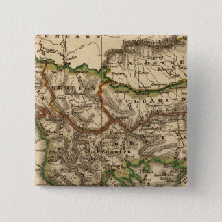 Turkey and Greece Map 15 Cm Square Badge