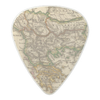 Turkey and Greece Map Acetal Guitar Pick