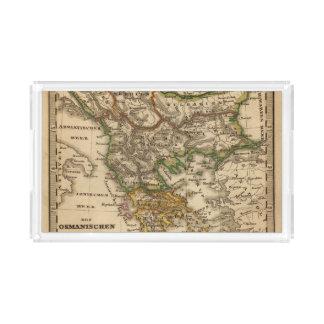 Turkey and Greece Map Acrylic Tray