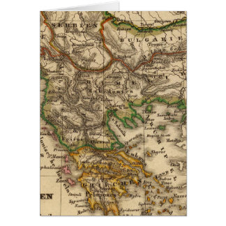 Turkey and Greece Map Card