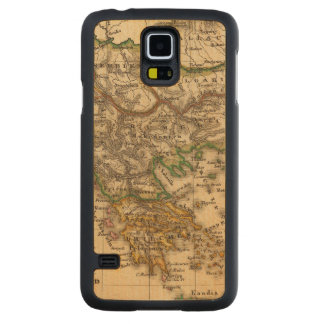 Turkey and Greece Map Carved Maple Galaxy S5 Case