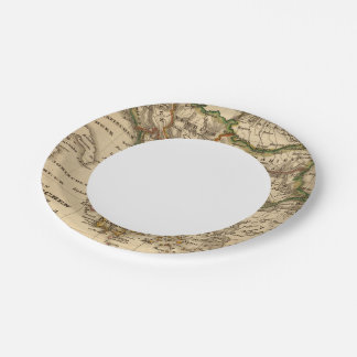Turkey and Greece Map Paper Plate
