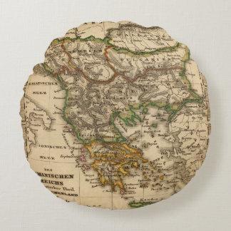 Turkey and Greece Map Round Cushion