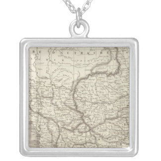 Turkey and Greece map Silver Plated Necklace