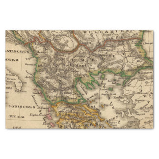 Turkey and Greece Map Tissue Paper