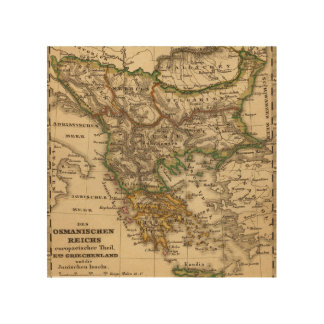 Turkey and Greece Map Wood Wall Art