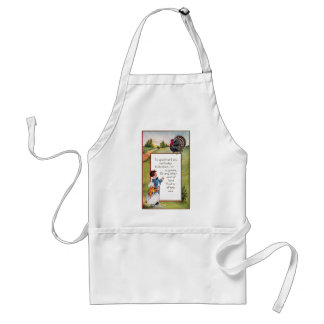 Turkey and Kids Vintage Thanksgiving Aprons