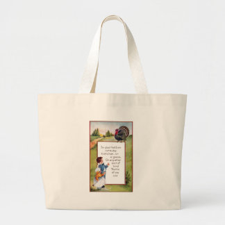 Turkey and Kids Vintage Thanksgiving Bags
