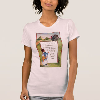 Turkey and Kids Vintage Thanksgiving T Shirts