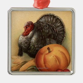Turkey and Produce # 1 Christmas Ornament
