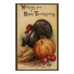 Turkey and Produce # 1 Poster