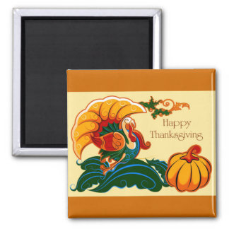 Turkey and Pumpkin Thanksgiving Magnets