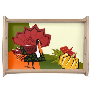 Turkey and Pumpkin Thanksgiving Serving Tray