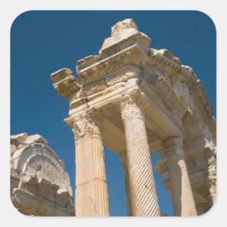 Turkey Aphrodisias a Roman Archaelogical Site Square Sticker