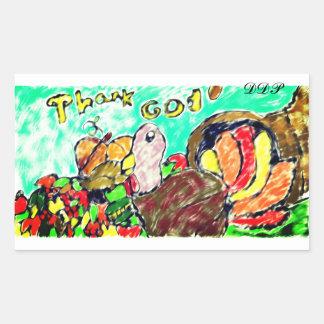 Turkey art two rectangular sticker