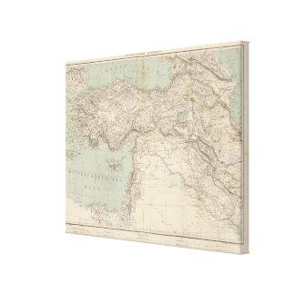 Turkey Atlas Map Canvas Print