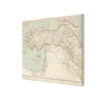 Turkey Atlas Map Gallery Wrap Canvas