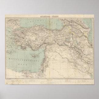 Turkey Atlas Map Poster