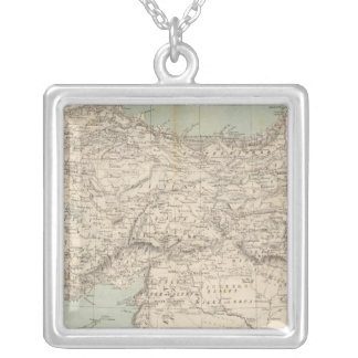 Turkey Atlas Map Silver Plated Necklace