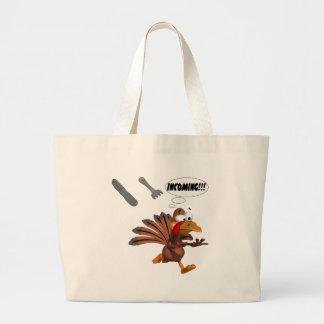 Turkey Attack Tote Bag