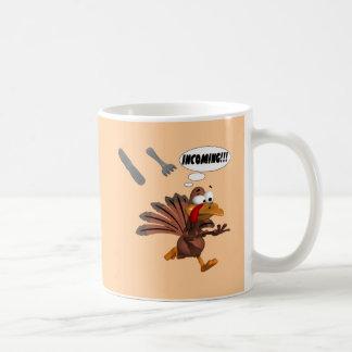 Turkey Attack Classic White Coffee Mug