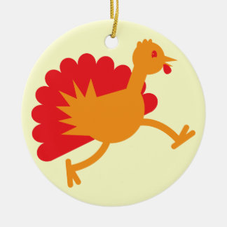 Turkey bird on the run! christmas ornament