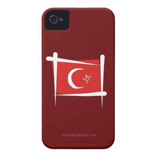 Turkey Brush Flag iPhone 4 Cases