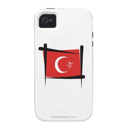 Turkey Brush Flag iPhone 4/4S Cover
