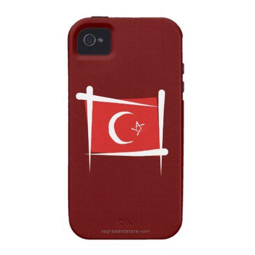 Turkey Brush Flag iPhone 4 Cover