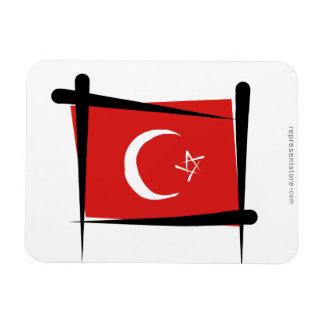 Turkey Brush Flag Rectangular Magnets
