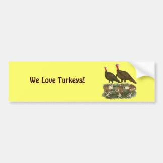 Turkey Chocolate Family Car Bumper Sticker