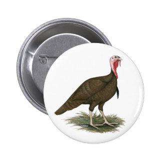 Turkey Chocolate Tom 6 Cm Round Badge