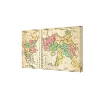 Turkey Chronological Map Canvas Print
