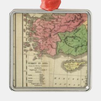Turkey Chronological Map Christmas Ornament