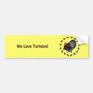 Turkey Circle Car Bumper Sticker