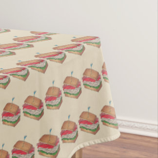 Turkey Club Sandwich Restaurant Diner Foodie Food Tablecloth