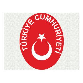 Turkey Coat of Arms detail Postcard